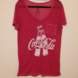 Coke tee, Sz XL, burn out
